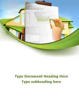 Cottage Construction Chart Word Template, Cover Page, 09246, Construction — PoweredTemplate.com