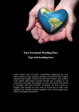 Caring For The Earth Word Template Cover Page