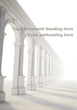 Enfilade Word Template, Cover Page, 09248, Construction — PoweredTemplate.com