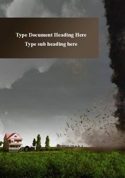 Tornado Word Template, Cover Page, 09251, Nature & Environment — PoweredTemplate.com
