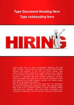 Hiring Word Template, Cover Page, 09255, Consulting — PoweredTemplate.com