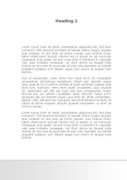 Employment Contract Word Template, Second Inner Page, 09256, Consulting — PoweredTemplate.com