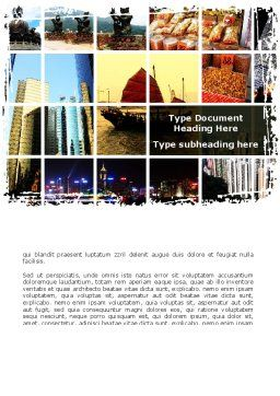 Southeast Asia Word Template, Cover Page, 09258, Flags/International — PoweredTemplate.com
