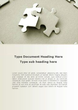 Puzzle Pieces Word Template, Cover Page, 09259, Business — PoweredTemplate.com