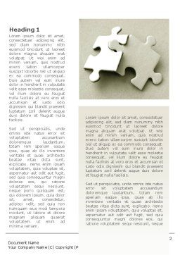 Puzzle Pieces Word Template, First Inner Page, 09259, Business — PoweredTemplate.com