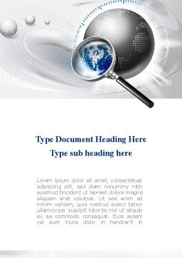 Global Search Word Template, Cover Page, 09265, Global — PoweredTemplate.com