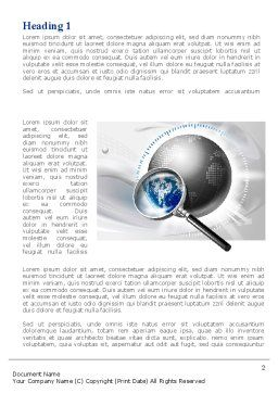 Global Search Word Template, First Inner Page, 09265, Global — PoweredTemplate.com