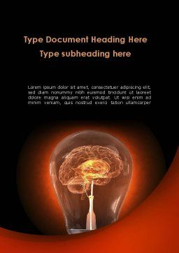 Artificial Brain Word Template, Cover Page, 09273, Consulting — PoweredTemplate.com
