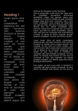 Artificial Brain Word Template, First Inner Page, 09273, Consulting — PoweredTemplate.com