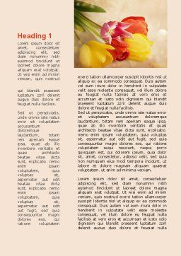 Tulip Word Template, First Inner Page, 09274, Holiday/Special Occasion — PoweredTemplate.com