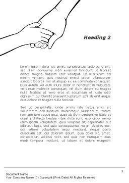 Hand to Hand Word Template, Second Inner Page, 09275, Consulting — PoweredTemplate.com