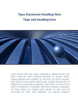 Blue Funnel Word Template, Cover Page, 09276, Consulting — PoweredTemplate.com