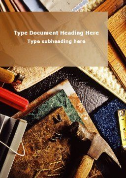Binding Tools Word Template, Cover Page, 09277, Construction — PoweredTemplate.com