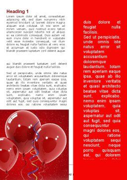 Red Balloons Word Template, First Inner Page, 09279, Holiday/Special Occasion — PoweredTemplate.com