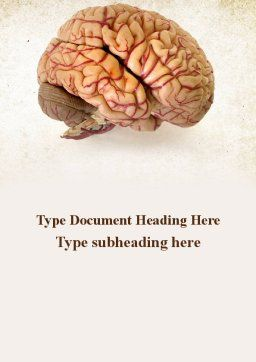 Human Brain As Anatomical Preparation Word Template, Cover Page, 09280, Medical — PoweredTemplate.com
