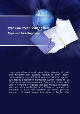 Study of Geography Word Template, Cover Page, 09281, Global — PoweredTemplate.com