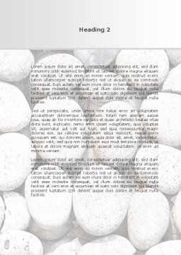 Pebble Word Template, Second Inner Page, 09282, Nature & Environment — PoweredTemplate.com