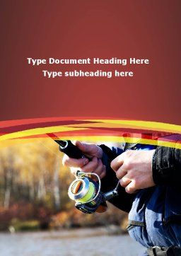 Fishing On A Spinning Word Template, Cover Page, 09284, Nature & Environment — PoweredTemplate.com