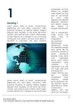 Global Digital Technologies Word Template, First Inner Page, 09285, Global — PoweredTemplate.com