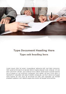 Business Meeting Word Template, Cover Page, 09287, Consulting — PoweredTemplate.com