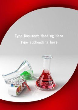 Chemical Lab Equipment Word Template, Cover Page, 09288, Technology, Science & Computers — PoweredTemplate.com