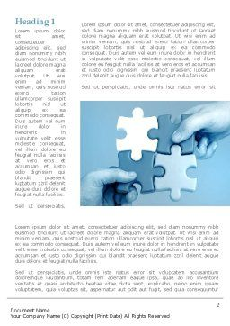 Blue Puzzle Solving Word Template, First Inner Page, 09293, Business Concepts — PoweredTemplate.com