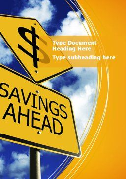 Saving Ahead Word Template Cover Page