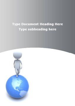Globe Under His Feet Word Template Cover Page