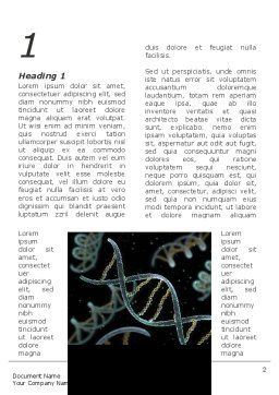 DNA Helix Word Template, First Inner Page, 09297, Technology, Science & Computers — PoweredTemplate.com