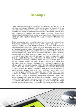 Email Hosts Word Template, Second Inner Page, 09298, Telecommunication — PoweredTemplate.com