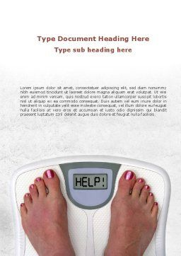 Weight Loss Help Word Template, Cover Page, 09303, Sports — PoweredTemplate.com
