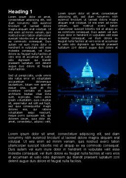 United States Capitol Word Template First Inner Page