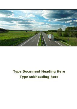Road Freight Word Template Cover Page