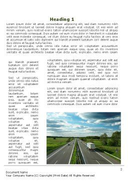 Road Freight Word Template First Inner Page