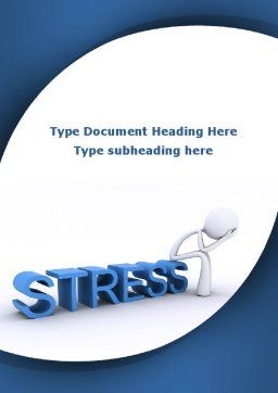 Stress Treatment Word Template, Cover Page, 09313, Consulting — PoweredTemplate.com