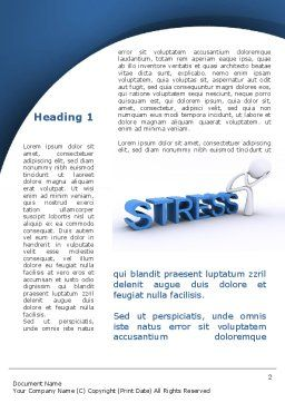 Stress Treatment Word Template, First Inner Page, 09313, Consulting — PoweredTemplate.com