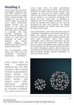 Dodecahedral Crystal Lattice Word Template, First Inner Page, 09315, Technology, Science & Computers — PoweredTemplate.com