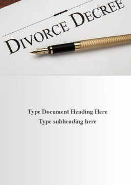 Divorce Decree Word Template, Cover Page, 09317, Consulting — PoweredTemplate.com