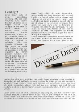 Divorce Decree Word Template, First Inner Page, 09317, Consulting — PoweredTemplate.com