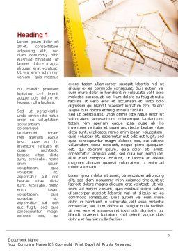 Cottage Draft Word Template, First Inner Page, 09318, Construction — PoweredTemplate.com