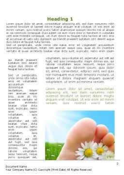 Treatment Of Fungal Diseases Word Template, First Inner Page, 09320, Nature & Environment — PoweredTemplate.com