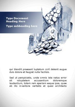 Cash Time Word Template, Cover Page, 09322, Consulting — PoweredTemplate.com