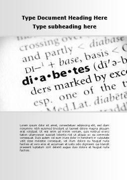 Diabetes Word Template, Cover Page, 09323, Medical — PoweredTemplate.com
