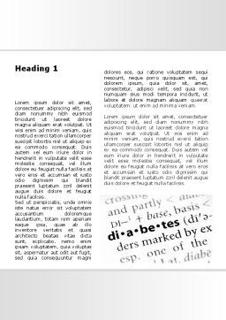 Diabetes Word Template, First Inner Page, 09323, Medical — PoweredTemplate.com