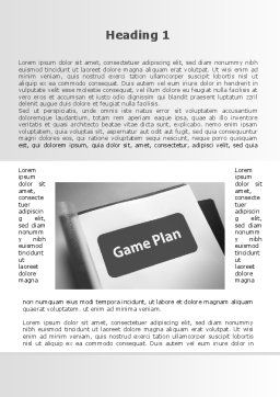Game Plan Word Template, First Inner Page, 09324, Consulting — PoweredTemplate.com