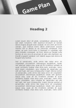 Game Plan Word Template, Second Inner Page, 09324, Consulting — PoweredTemplate.com