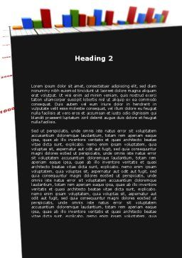 Columns Diagram Word Template, Second Inner Page, 09327, Business — PoweredTemplate.com