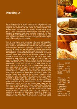 Pastries Word Template Second Inner Page