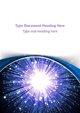 Optical Fiber Word Template, Cover Page, 09330, Technology, Science & Computers — PoweredTemplate.com