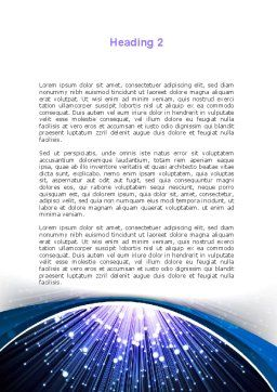 Optical Fiber Word Template, Second Inner Page, 09330, Technology, Science & Computers — PoweredTemplate.com